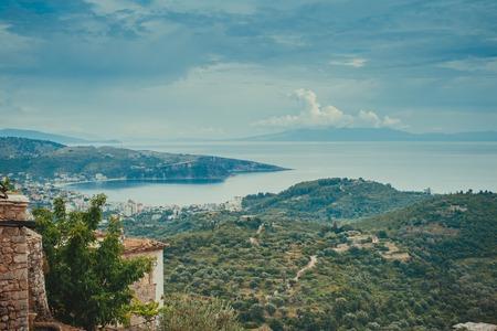 View from the inside of Himara Castle, Albania 版權商用圖片