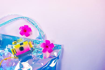 Stylish trendy hologram women bag
