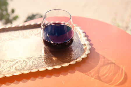 Glass filled with Red Grape Juice