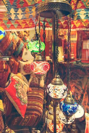 Traditional arabic lanterns on the market