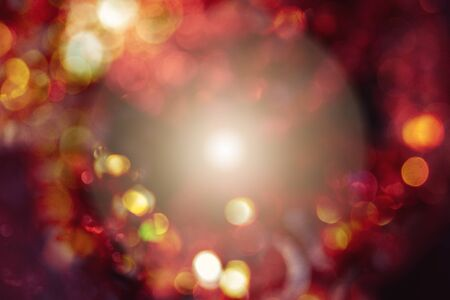 Festive red background bokeh of glare Stock fotó - 134638627