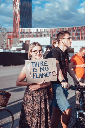Fridaysforfuture demonstration in to raise awareness for climate change Redakční