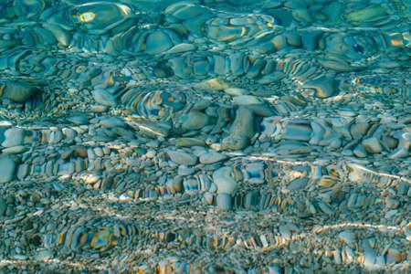 Shining blue water ripple background