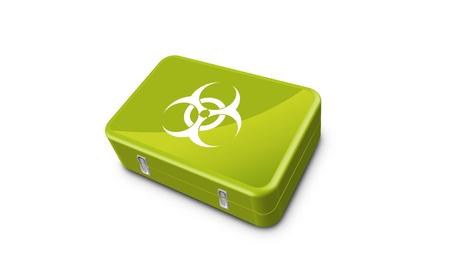 Biohazard acid case Stock Vector - 18826038