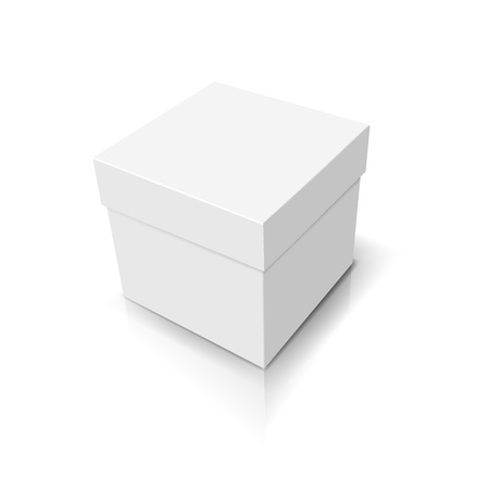 closed box: White closed box Illustration
