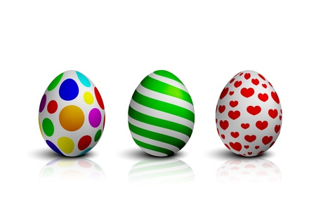 Easter Eggs Vector Illustration Collection Illustration