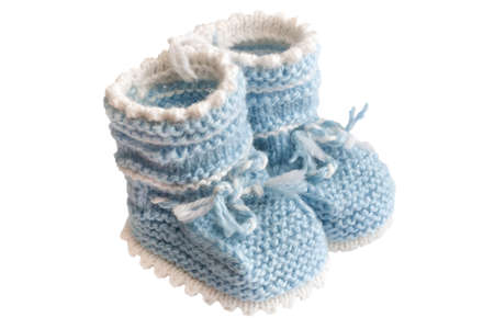 baby's bootee: little babys bootee blue