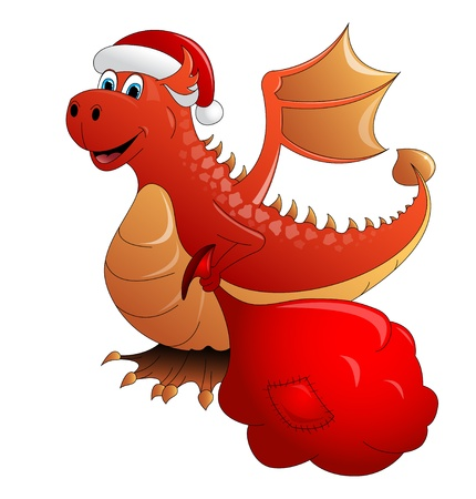 Red Fire Dragon A Symbol Of 2012 Vector