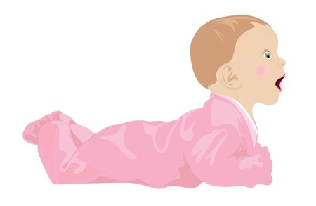 baby crawling: baby(4).jpg Illustration