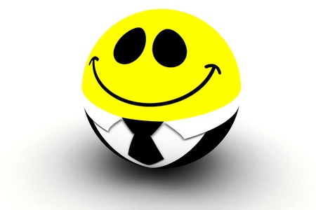 Isolated 3d standard smiling smiley Stock Photo - 11395315