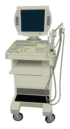 Vector ultrasoon apparaat. Ultrageluid Vector Illustratie