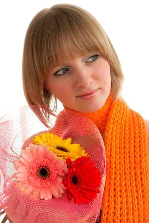 Woman with flower photo