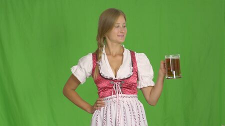 Oktoberfest girl wiht mug of beer