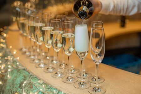 Champagne Glass Fillings for Wedding or Birthday.