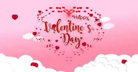 3D Rendering a Valentine's day greeting card. Declaration of Love and Care. Lovers holiday concept.