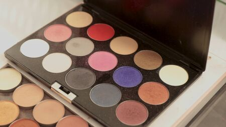 Eye shadow of different colors, cosmetics, makeup