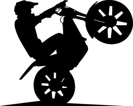 motociclista: Prestazioni di dimostrazione del corridore sulla gara di sci di fondo