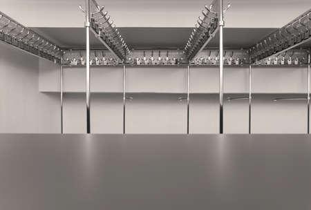 cloakroom: Empty Cloakroom