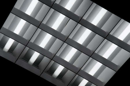 ceiling light: Fluorescent Lamps Lighted