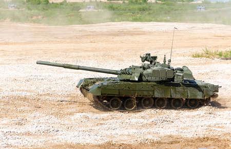 tank: Tank on a field. Modern military equipment
