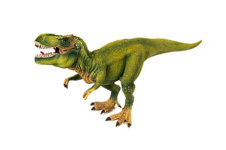 tyrannosaur: Tyrannosaur dinosaur plastic model on white background