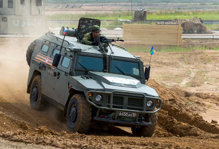 Alabino, Moskow region, Russia - July 29, 2017: Demonstration of weapon and military equipment at the International military-technical forum ARMY