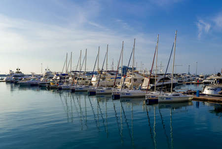 Beautiful Yachts in blue sky background
