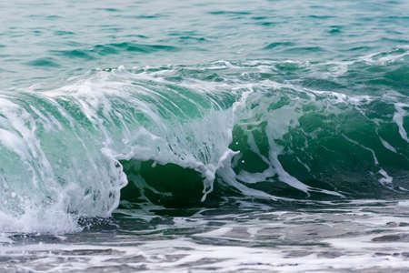Raging Black Sea. Big wave with sea foam