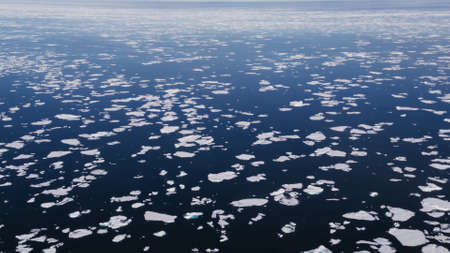 Many small ice floes from above Standard-Bild