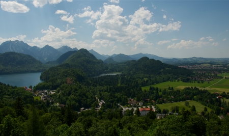 bird s eye: Bird s Eye View of Schwangau, Germany