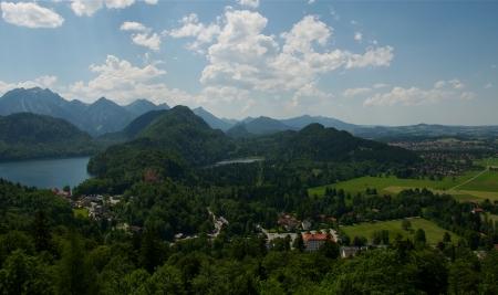 schwangau: Bird s Eye View of Schwangau, Germany