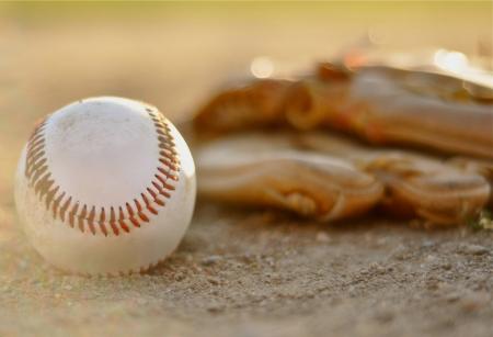pastimes: Baseball and Glove Stock Photo