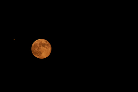 A full Harvest Moon in mid-September