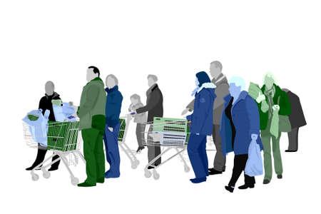 personas de compras  Foto de archivo - 2782463