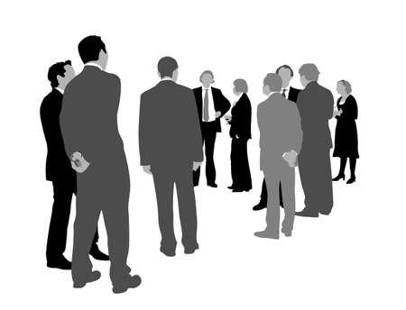 kollegen: Abbildung von Business-Jahr-Feier