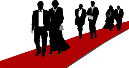 Red carpet arrivals, illustration Stock Illustration - 2853747