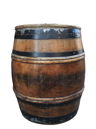 old barrel isolated with clipping path embedded Stock Photo - 2929786