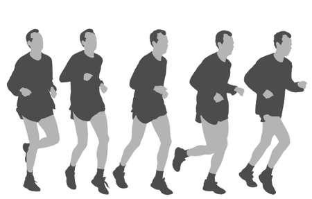 human figure running Stock Vector - 3006607