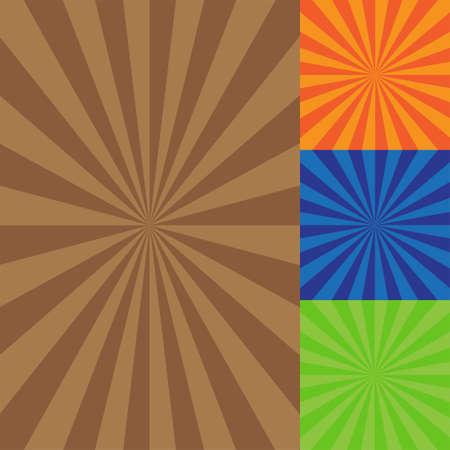 graffiti brown: retro fondo ilustraci�n vectorial con los rayos del sol