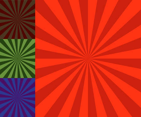 retro vector background illustration with sun beams Stock Vector - 3057238