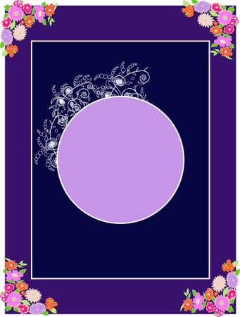 Vintage floral frame - illustration for a poster Stock Vector - 3081850