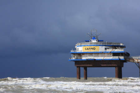 stranded: storm approaching stranded pier casino