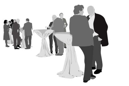 dinner party: Business party Illustration