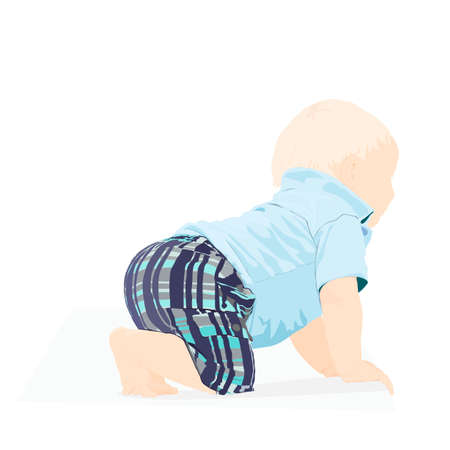baby crawling vector illustration Vector