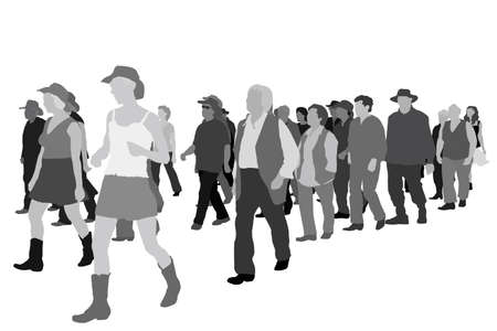 public figure:  group of surprised people  Illustration