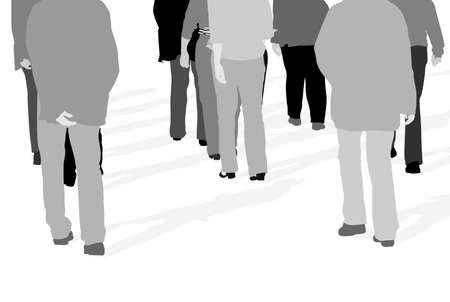 vector illustration of people walking  Vector