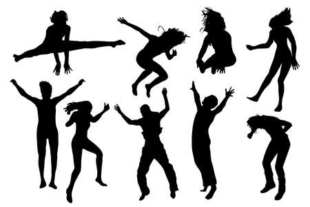 people jumping vector Stock Vector - 3367610