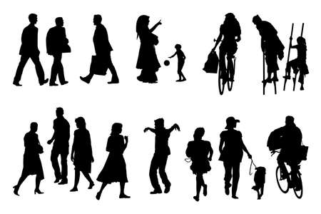 diverse people collection Vector