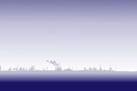 port: port on horizon background Illustration