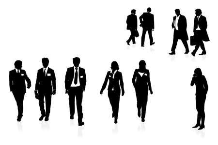 woman tie: businesspeople